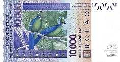 Бенин: 10000 франков CFA-BCEAO 2003-17 г.