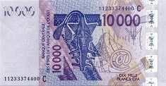 Буркина-Фасо: 10000 франков CFA-BCEAO 2003-17 г.