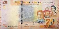 Боливия: 20 боливиано (2018 г.)
