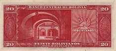 Боливия: 20 боливиано 1945 г.