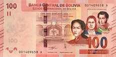 Боливия: 100 боливиано (2018 г.)