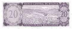 Боливия: 20 песо 1962 г.