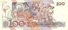 Бразилия: 100 крузадо ново (1989 г.)