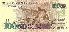 Бразилия: 100000 крузейро (1990 г.)