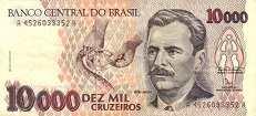 Бразилия: 10000 крузейро (1990 г.)