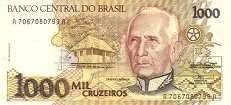 Бразилия: 1000 крузейро (1990 г.)