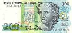 Бразилия: 200 крузейро (1990 г.)