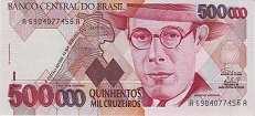 Бразилия: 500000 крузейро (1990 г.)