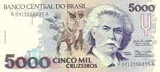 Бразилия: 5000 крузейро (1990 г.)