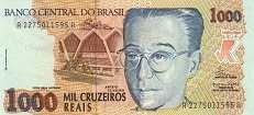 Бразилия: 1000 крузейро рейс (1993 г.)