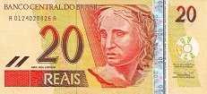 Бразилия: 20 реалов (2001 г.)