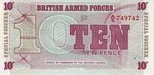 Военные Силы Великобритании: 10 пенсов (1972 г.)