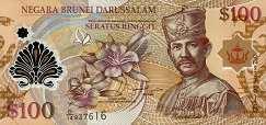 Бруней: 100 долларов 2004-13 г.