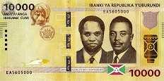 Бурунди: 10000 франков 2015-18 г.