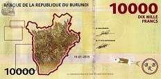 Бурунди: 10000 франков 2015 г.