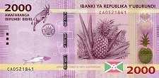 Бурунди: 2000 франков 2015-18 г.