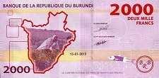 Бурунди: 2000 франков 2015 г.