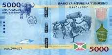 Бурунди: 5000 франков 2015-18 г.