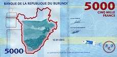Бурунди: 5000 франков 2015 г.
