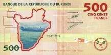 Бурунди: 500 франков 2015-18 г.
