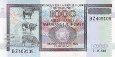 Бурунди: 1000 франков 2009 г.
