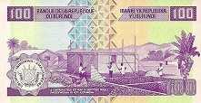 Бурунди: 100 франков 2010-11 г.