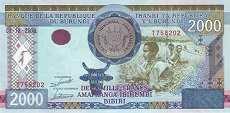 Бурунди: 2000 франков 2008 г.