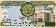 Бурунди: 5000 франков 2008-13 г.