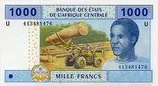 Камерун: 1000 франков CFA-BEAC 2002 г.
