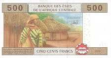 Камерун: 500 франков CFA-BEAC 2002 г.
