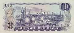 Канада: 10 долларов 1971 г.