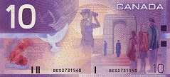 Канада: 10 долларов 2000-04 г.