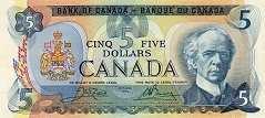 Канада: 5 долларов 1979 г.