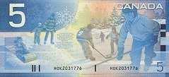 Канада: 5 долларов 2001-05 г.