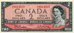 Канада: 2 доллара 1954 г.