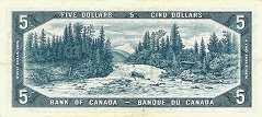Канада: 5 долларов 1954 г.