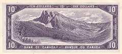 Канада: 10 долларов 1954 г.