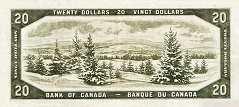 Канада: 20 долларов 1954 г.