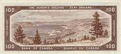 Канада: 100 долларов 1954 г.