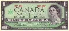 Канада: 1 доллар 1967 г. (юбилейная)