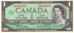 Канада: 1 доллар 1967 г.
