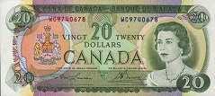 Канада: 20 долларов 1969 г.