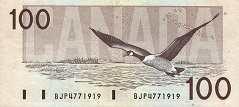 Канада: 100 долларов 1988 г.