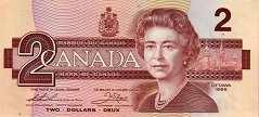 Канада: 2 доллара 1986 г.