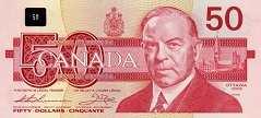 Канада: 50 долларов 1988 г.