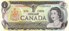 Канада: 1 доллар 1973 г.