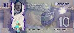 Канада: 10 долларов 2013 г.