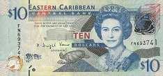 Восточные Карибы: 10 долларов (2012 г.)