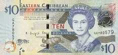 Восточные Карибы: 10 долларов (2015 г.)