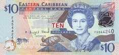Восточные Карибы: 10 долларов (2008 г.)